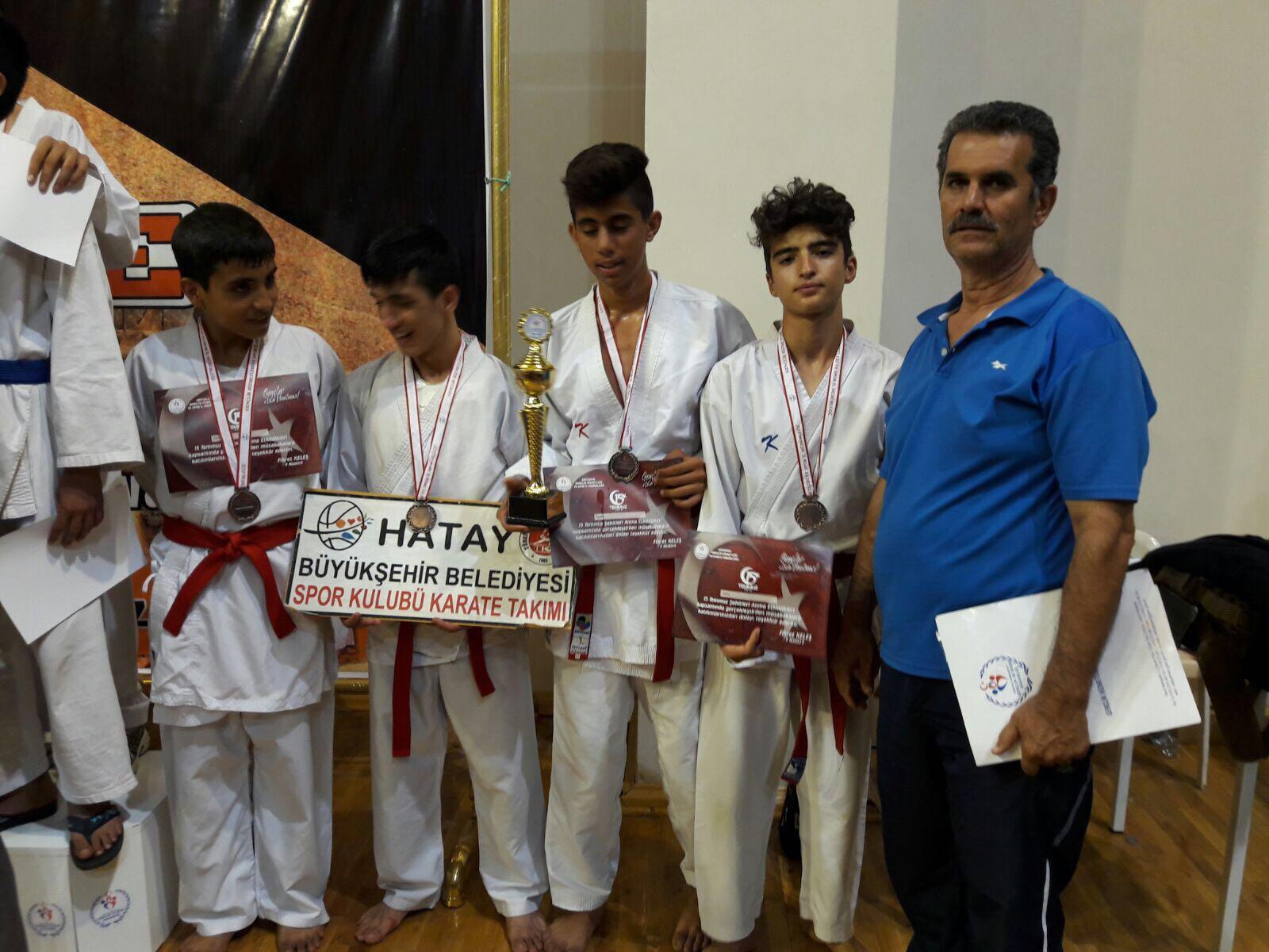 HBB Karate Takımı 15 Temmuz Demorasi Turnuvası'ndan başarıyla döndü