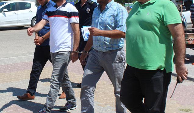 Antakya'da torbacı operasyonu; 2 Kadın 7 kişi tutuklandı