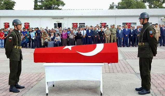 Şehit Uzman Çavuş Abdullah Akdeniz için tören düzenlendi