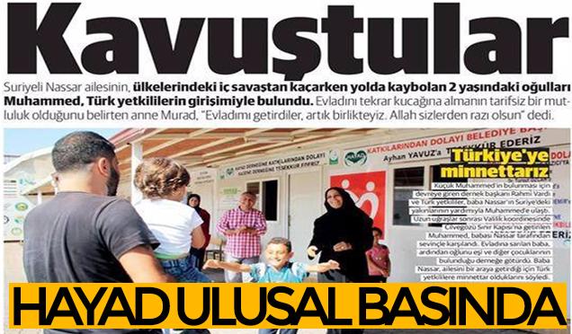 HAYAD Küçük Muhammed'i kavuşturdu Türkiye izledi