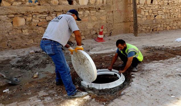 Kırıkhan'da alt yapı çalışmaları