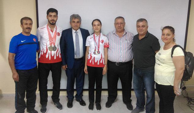 Başkan Yaman sporcularla birlikte