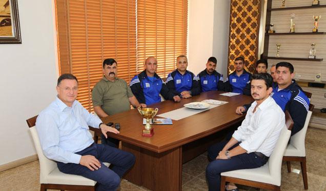 HBB aba güreşi takımı, başkan Savaş'ı ziyaret etti