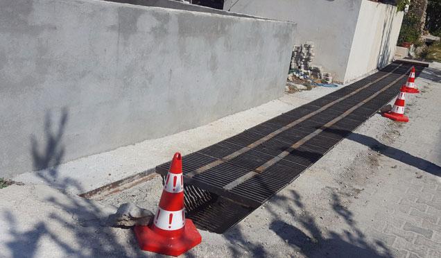 Defne belediyesi yağmur suyu kanal çalışmaları