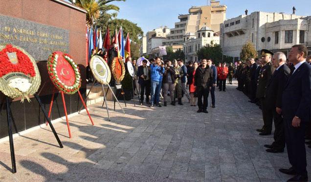 Gazi Mustafa Kemal Atatürk, 79. yıl dönümünde saygıyla anıldı