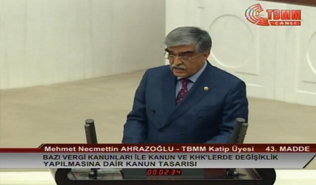MHP Hatay milletvekili Ahrazoğlu'ndan açıklama