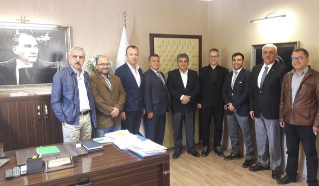 TMMOB oda başkanları defne belediye başkanı Yaman'ı ziyaret etti