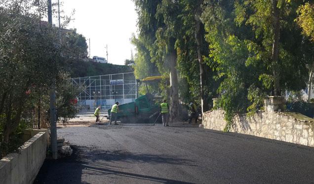 Defne sıcak asfalt çalışmaları