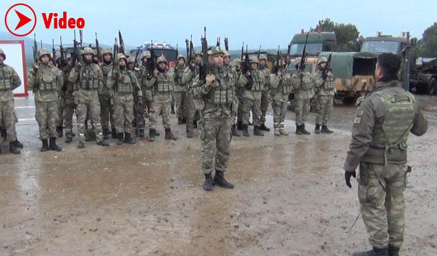 Ant içen komandolar Afrin'e hareket etti- İlk görüntüler