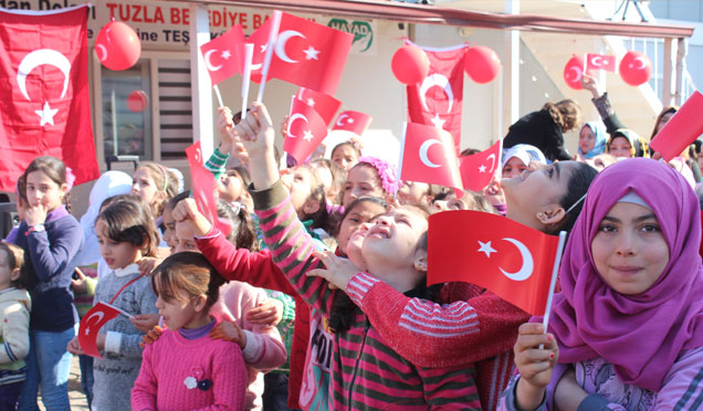 """""""Zeytin Dalı Harekatına"""" Suriyeli çocuklardan destek"""