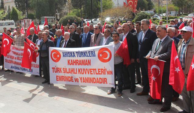 Ahıska Türklerinden 'Zeytin Dalı Harekâtına' destek