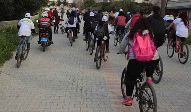 Yeşilay Haftası münasebetiyle bisiklet turu gerçekleştirildi