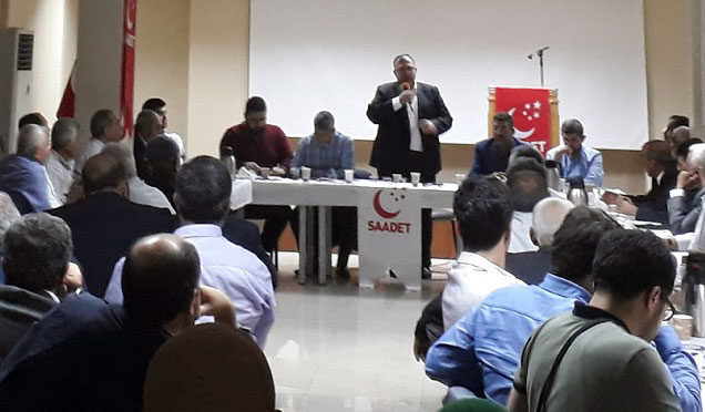 Saadet Partisi Hatay İl ve ilçe teşkilatı Antakya'da istişare toplantısı yaptı