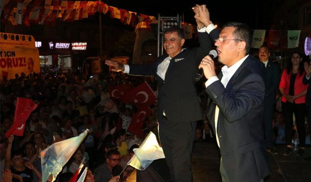 CHP Grup Başkanvekili Özel Samandağ ve Serinyol'da mitinglere katıldı