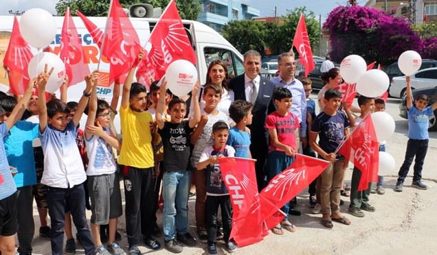 CHP Milletvekili Mehmet Güzelmansur'un seçim çalışmaları