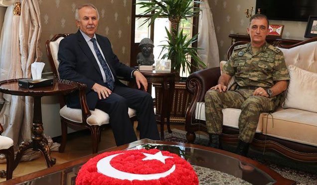 Tuğgeneral Kemal Kıriş Hatay Valisi Erdal Ata'yı ziyaret etti