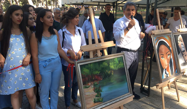 Gençlik Kültür ve Sanat Evi öğrencileri eserlerini sergiledi