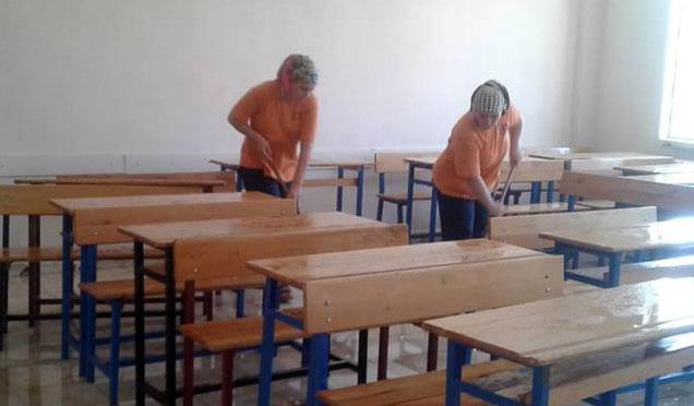 Kırıkhan'da okul öncesi temizlik