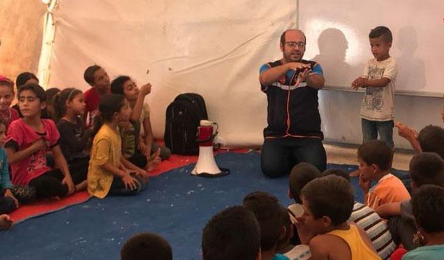 Çadır Kampta kalan Suriyeli çocuklara Hijyen Eğitimi verildi