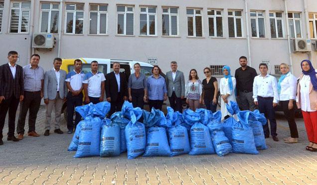 Türkiye Omurilik Felçlileri Derneğine 50 Kğ kapak desteği