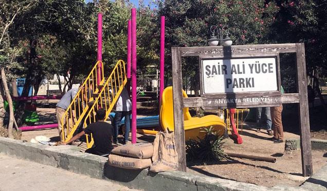 Antakya'da parklar revize çalışmaları