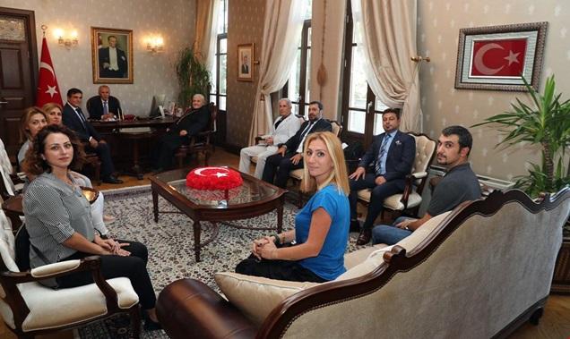 Türkiye Süryani Katolik Patrik Vakfı yönetiminden Vali Ata'ya ziyaret