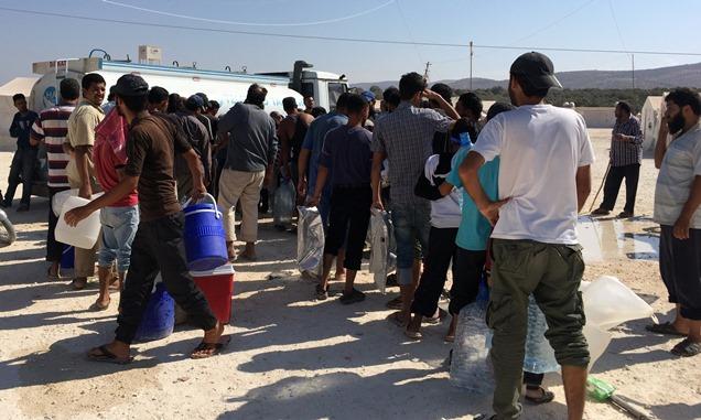 Çadır Kamplardaki Suriyelilere içme suyu desteği