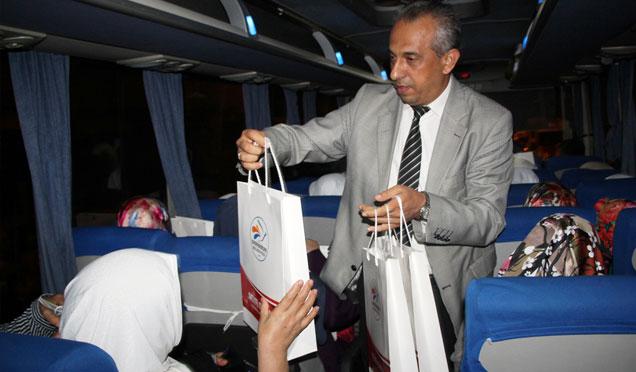 Belediye Başkanından Umreye gidenlere hediye