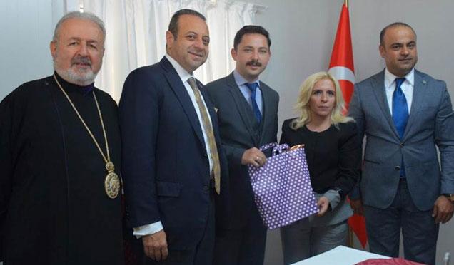 AB Eski Bakanı ve Türk Ermeni Baş Patrik Vekili Aram Ateşyan'dan Altınözü'ne ziyaret