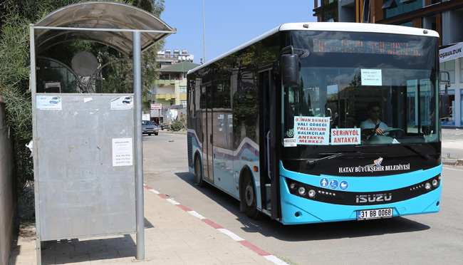 Hatay'daki toplu taşıma araçlarında fiyat değişikliği