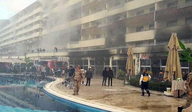 Hatay'da otel yangını