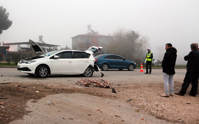 Hassa'da kaza 1 ölü, 9 yaralı