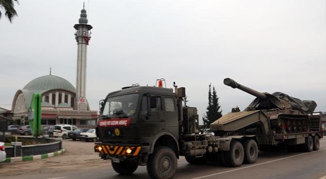 Sınır birliklerine obüs ve askeri araç takviyesi