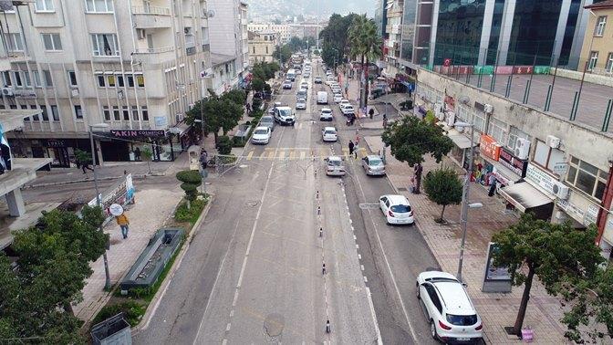 Antakya Atatürk Caddesi trafiğe kapandı