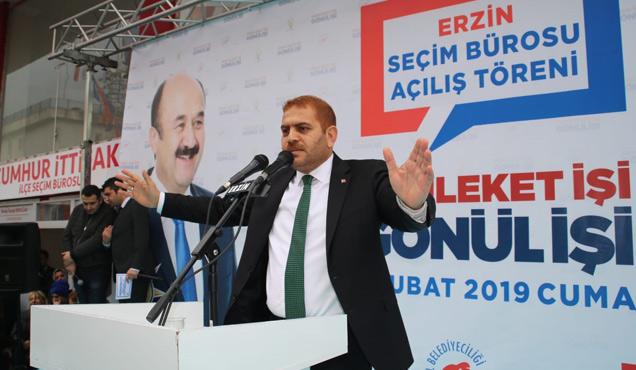 Cumhur İttifakının Erzin seçim bürosu açıldı