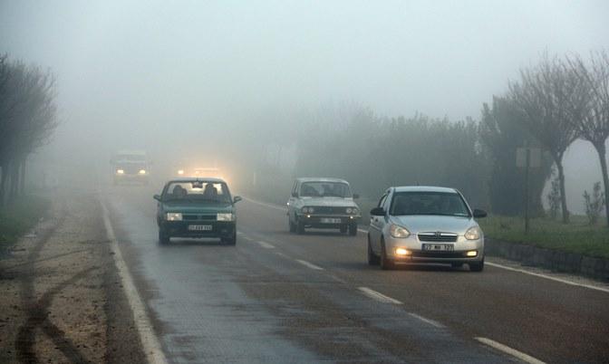 Hatay'ın bazı ilçelerinde yoğun sis etkili oldu