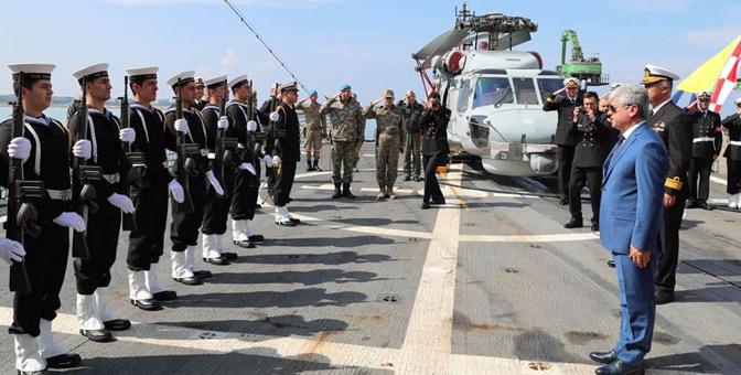 Vali Doğan, Deniz üs komutanlarını kabul etti