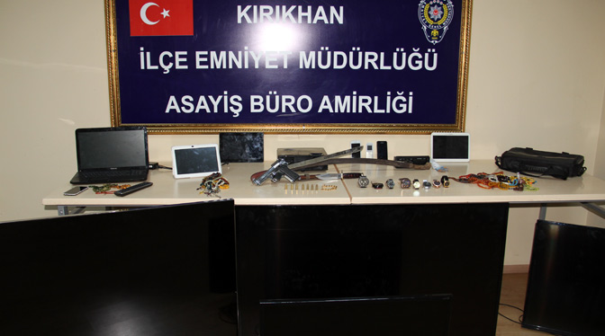 Kırıkhan'da hırsızlık operasyonu, 6 gözaltı