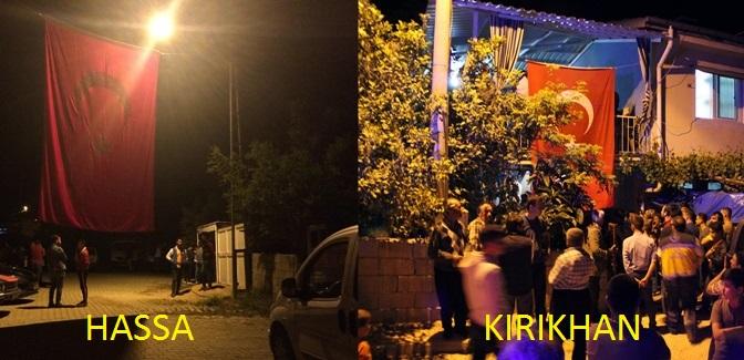 Hassa ve Kırıkhan'a acı haber ulaştı