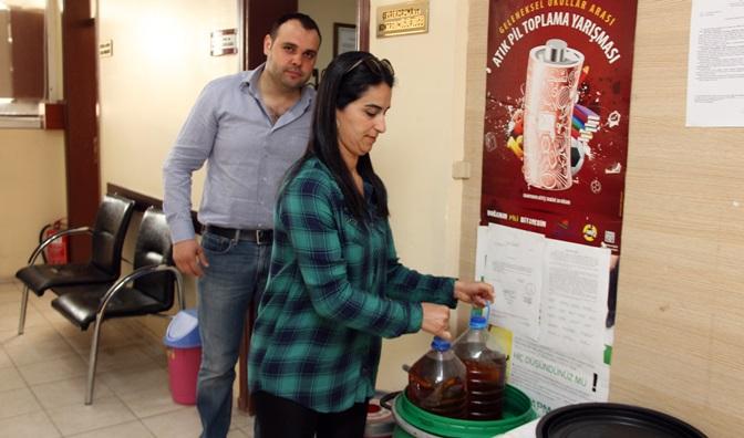 Atık yağ toplama kampanyasına vatandaşlardan destek