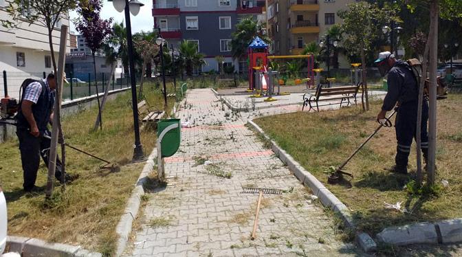 Antakya Belediyesi parklarda revize çalışması yaptı