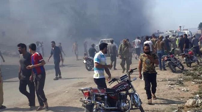 Afrin'de patlama; 11 ölü, 38 yaralı