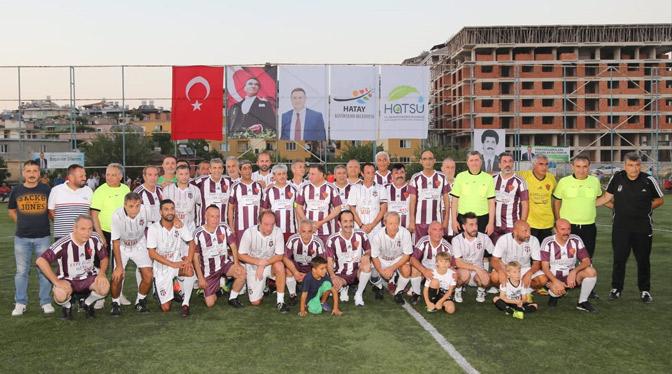 Beşiktaş eski futbolcuları Hatay protokolü ile dostluk maçında