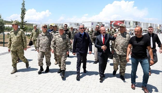 """Bakan Akar; """"Bir an önce bölgede huzuru ve sükunu sağlayacağız"""""""