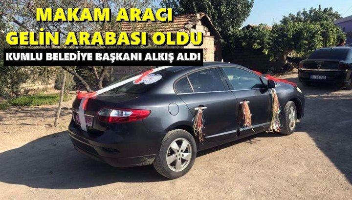 Belediye Başkanı Makam aracını gelin arabası yaptı