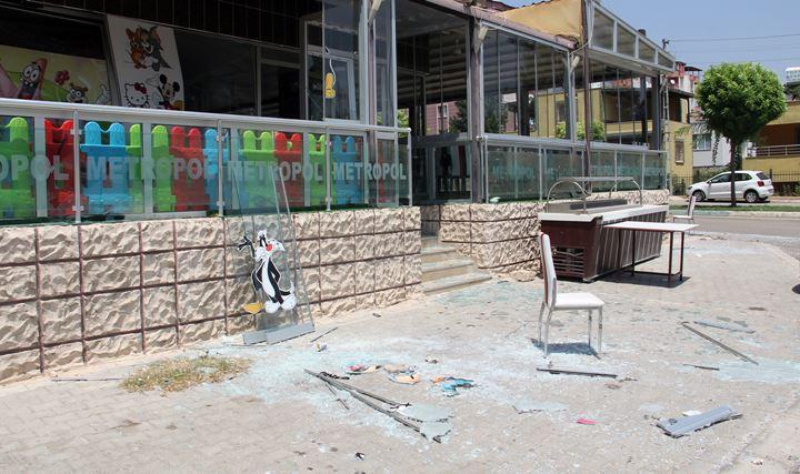 Kırıkhan'da iş yerinde patlama meydana geldi