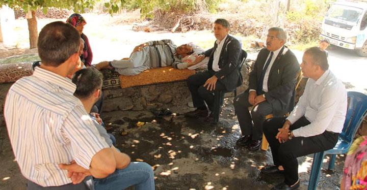 Milletvekilli Yayman ve Belediye Başkanı Yavuz'dan mahalle ziyaretleri