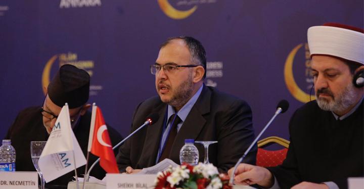 Necmettin Çalışkan Ankara'da İslam Birliği Kongresinde konuştu