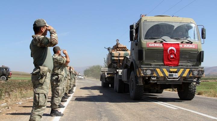 Zeytindalı Harekatında görev alan zırhlı araçlar sevk edildi