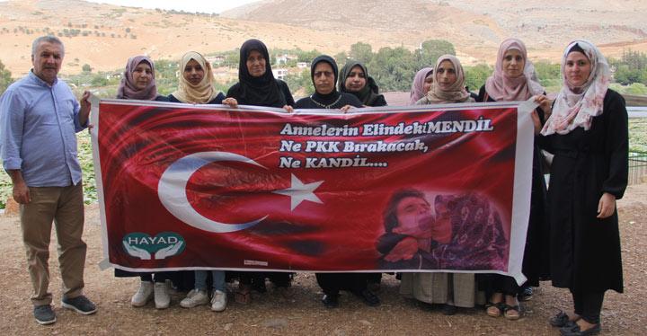 Suriyeli kadınlardan Diyarbakır annelerine destek